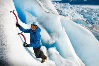 Andy Torbet climbing a glacier